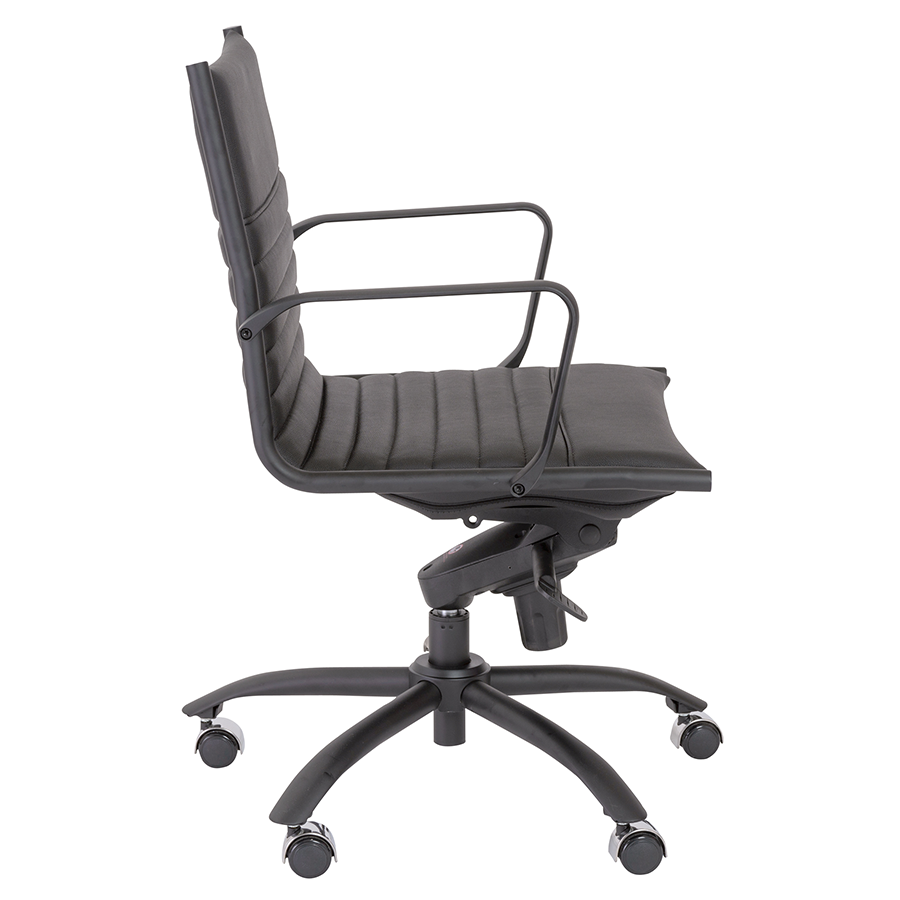 Dirk Black Leatherette Modern Office Chair