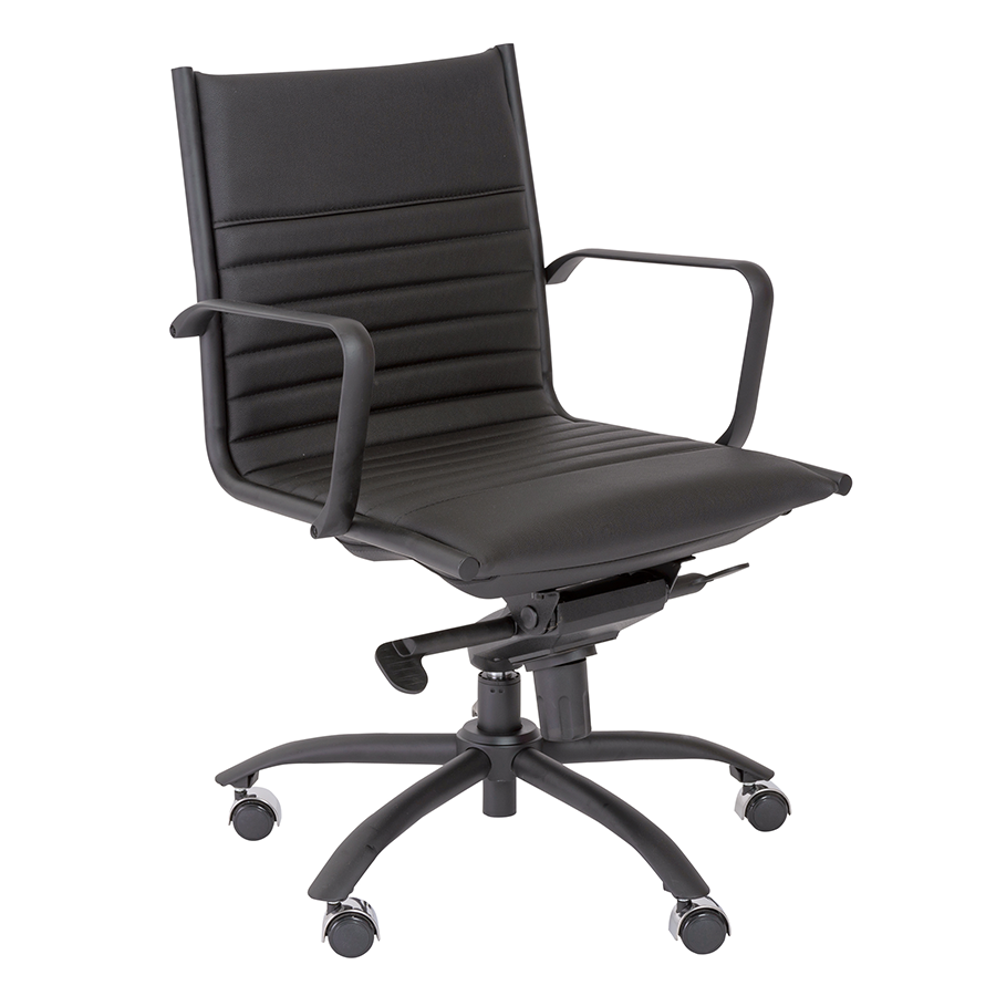 Dirk Black Modern Office Chair