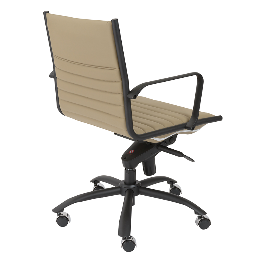 Dirk Taupe Leatherette Contemporary Office Chair