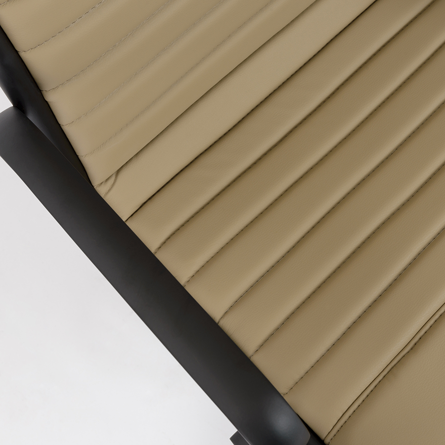 Dirk Taupe + Black Contemporary Office Chair Detail