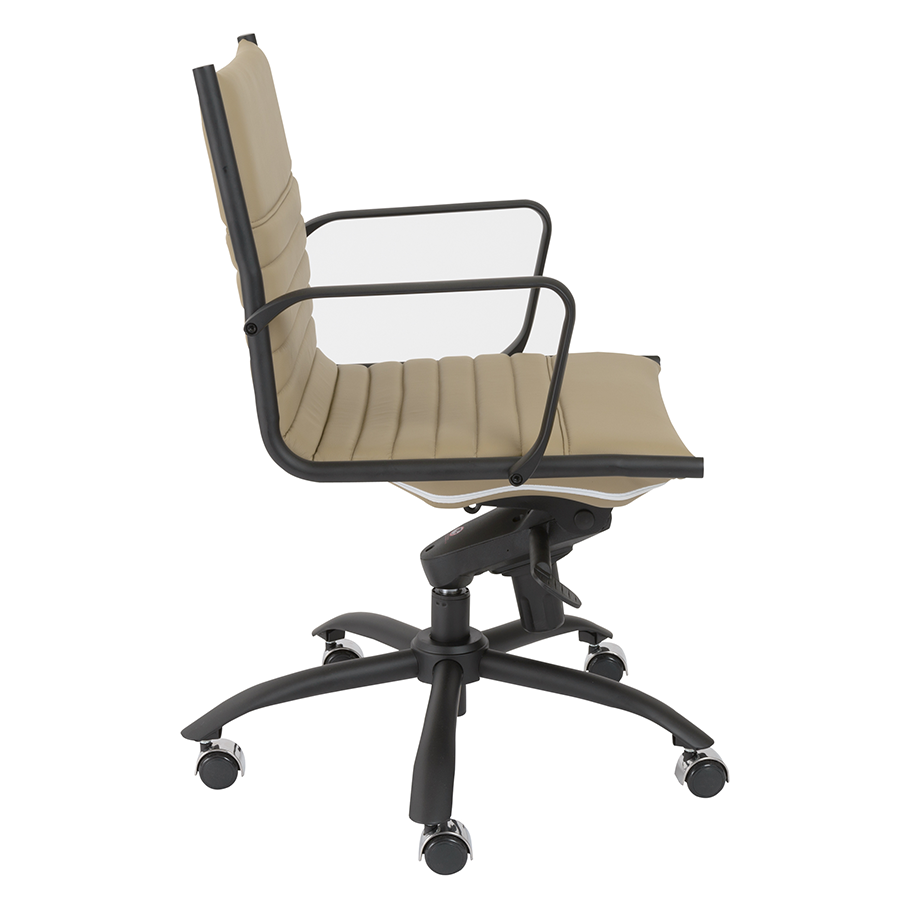 Dirk Taupe Leatherette Modern Office Chair