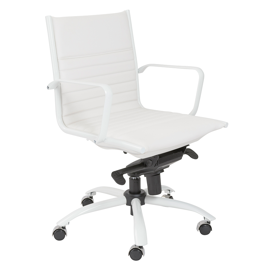Dirk White Modern Office Chair