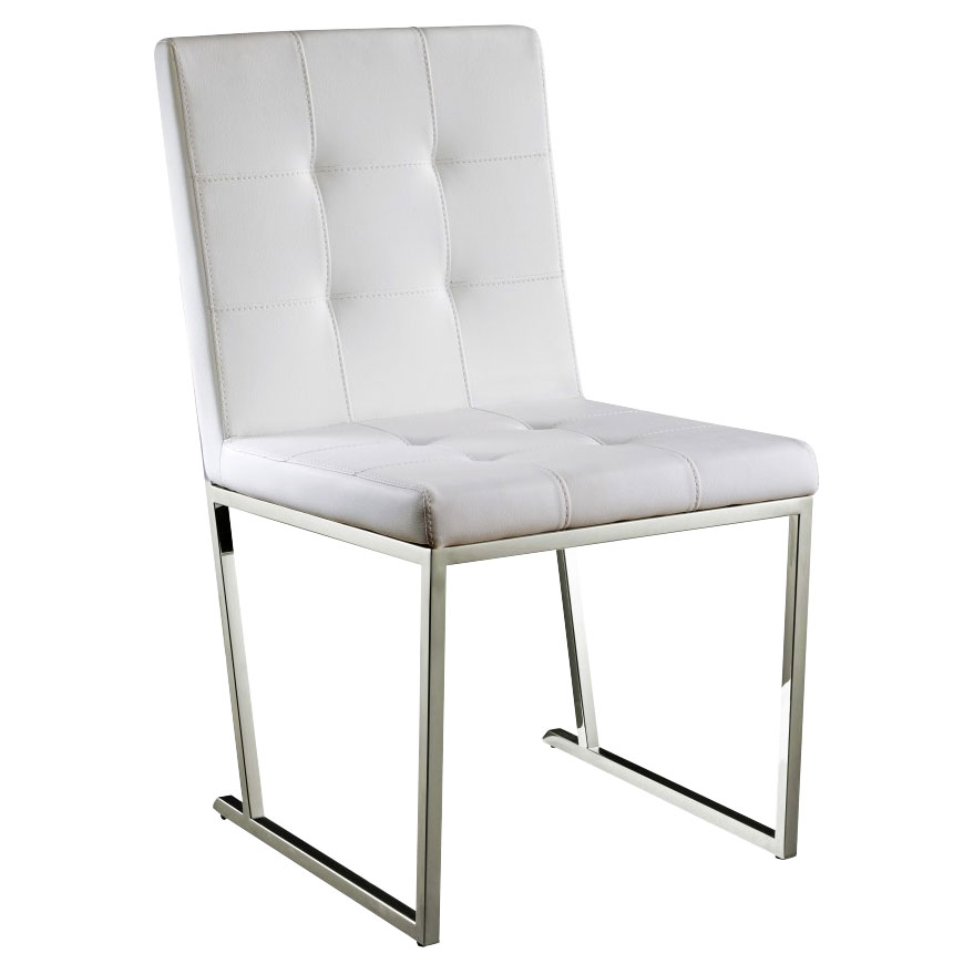 Dolores White Contemporary Dining Chair