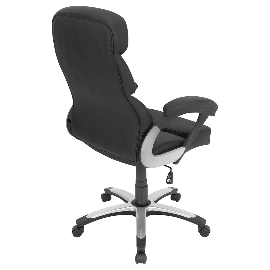 Dorsten Black Leatherette Contemporary Office Chair
