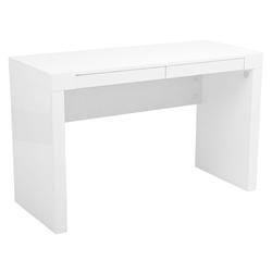 Downey Modern High Gloss White Desk