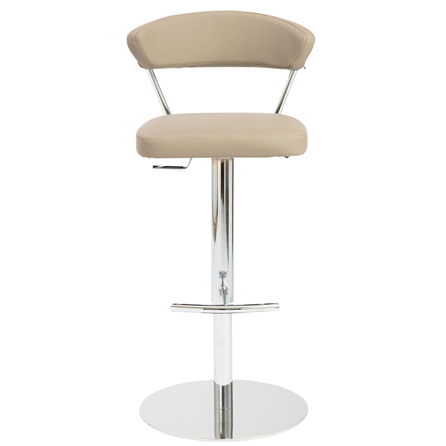 Draco Taupe Contemporary Adjustable Stool