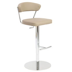 Draco Taupe Modern Adjustable Stool