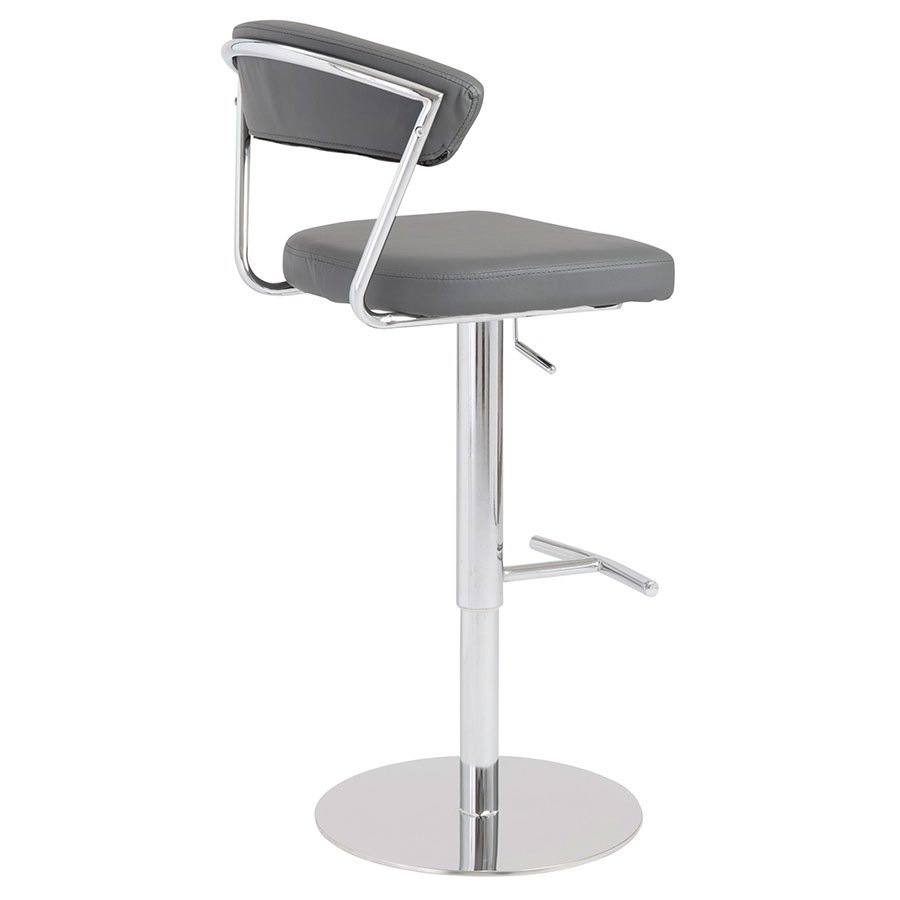 Drake Modern Adjustable Stool in Gray - Back View