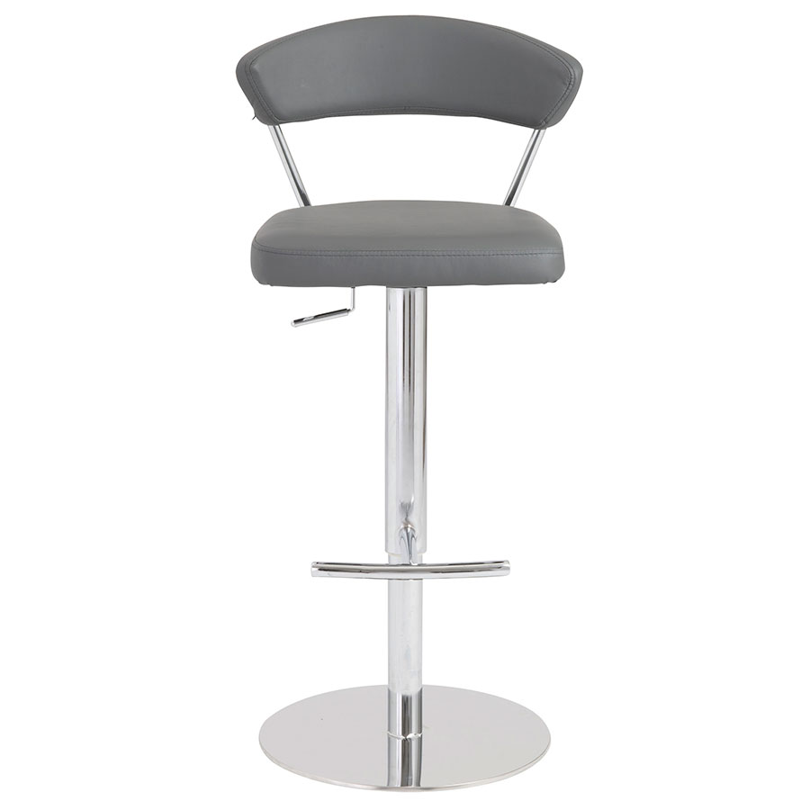 Drake Modern Adjustable Stool in Gray - Front View