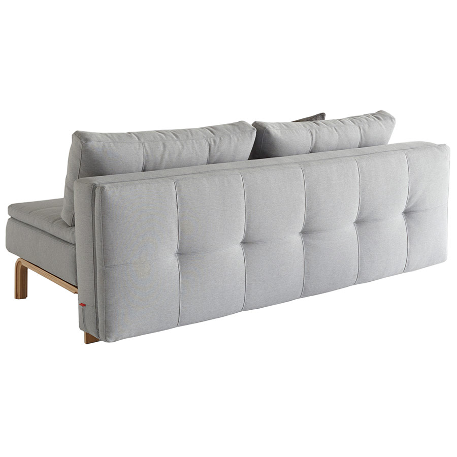 Dual Armless Sleeper Sofa in Soft Pacific Pearl by Innovation