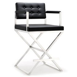 Duncan Modern Black Counter Height Stool