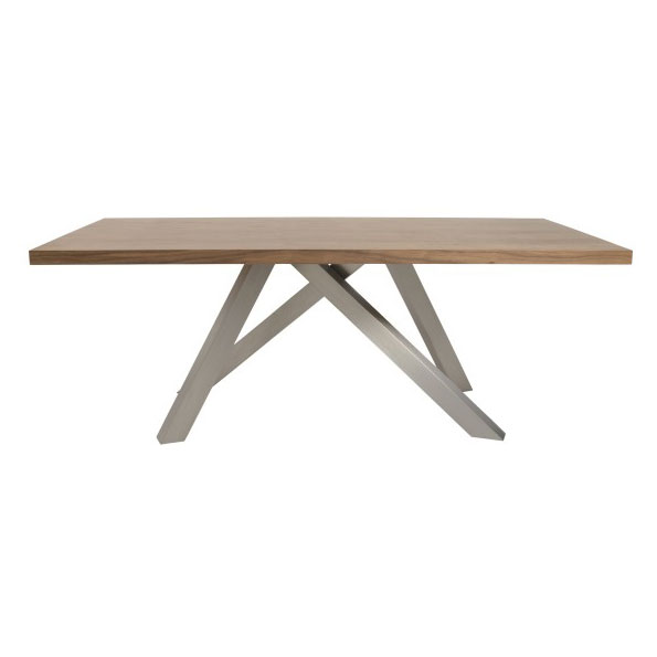 Dunkirk Contemporary Walnut Dining Table