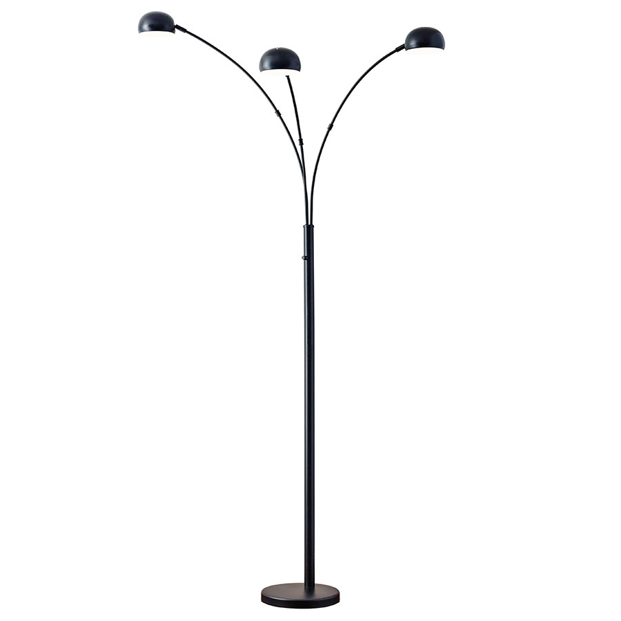 Durant Modern Arc Lamp Matte Black