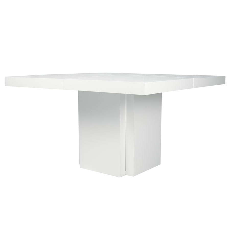 "Dusk 51"" White Contemporary Dining Table"