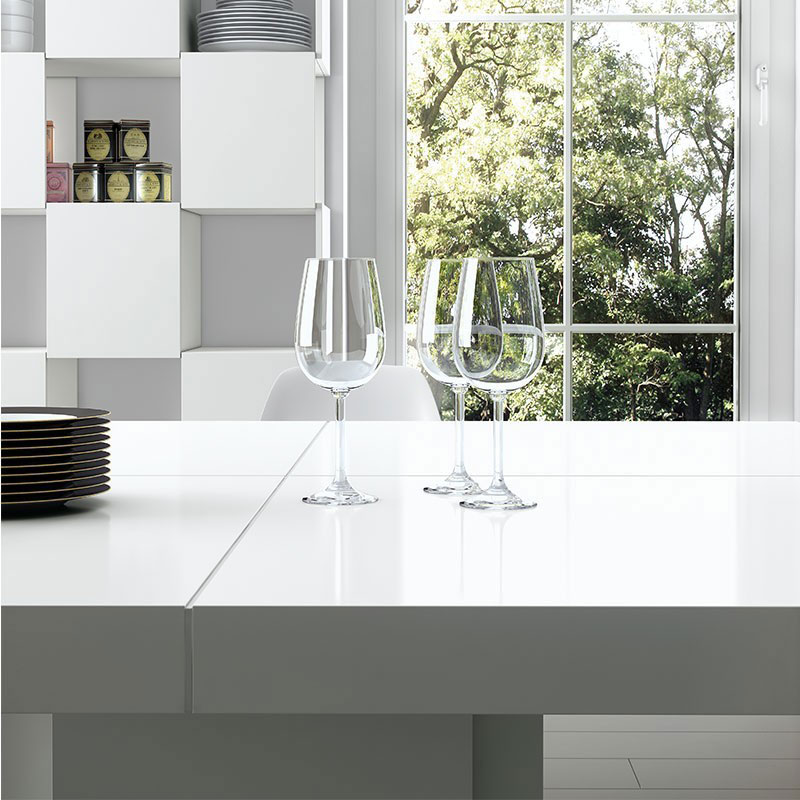 Dusk White Dining Table - Top Detail