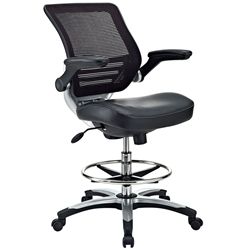 Ede Modern Black Drafting Stool