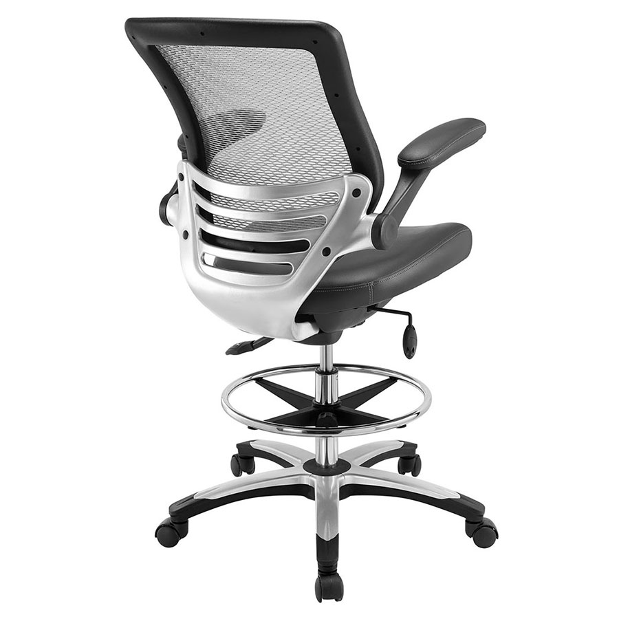 Ede Modern Gray Drafting Stool - Back View