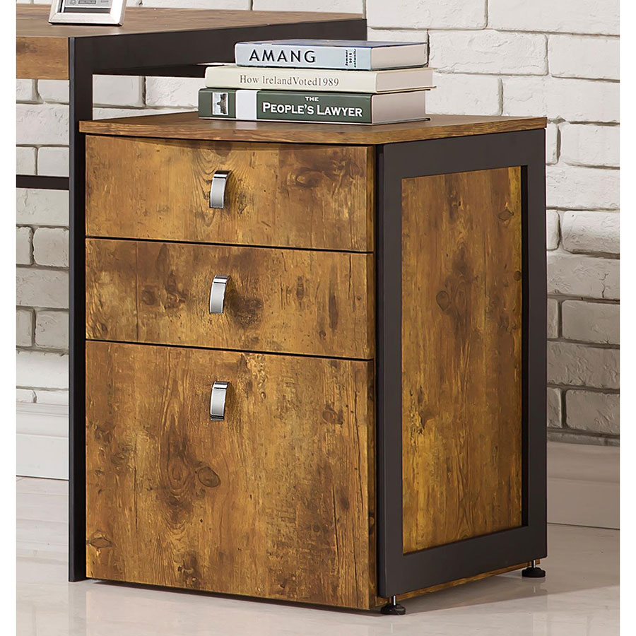 Edwin Rustic Contemporary File Cabinet