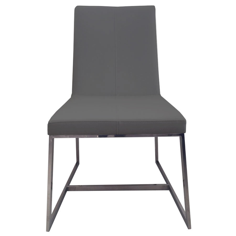 Egbert Contemporary Graphite Dining Chair Front