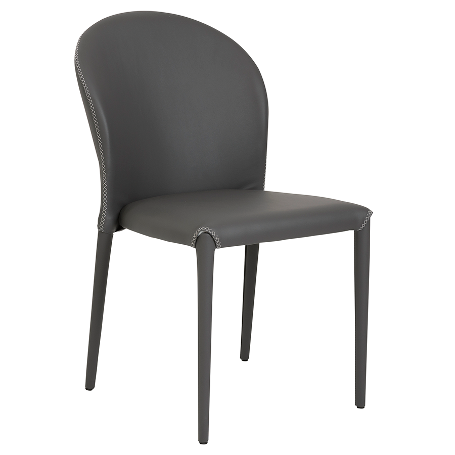 Elain Gray Modern Side Chair