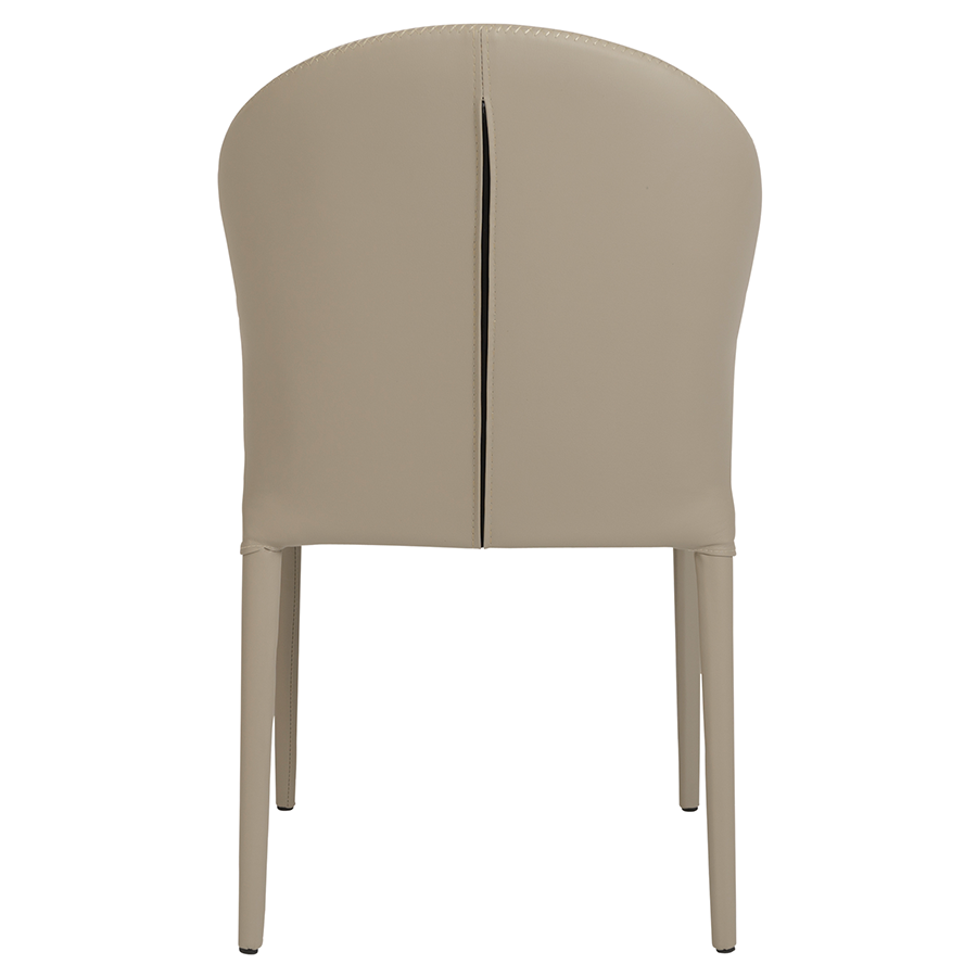 Elain Taupe Leathette Contemporary Side Chair