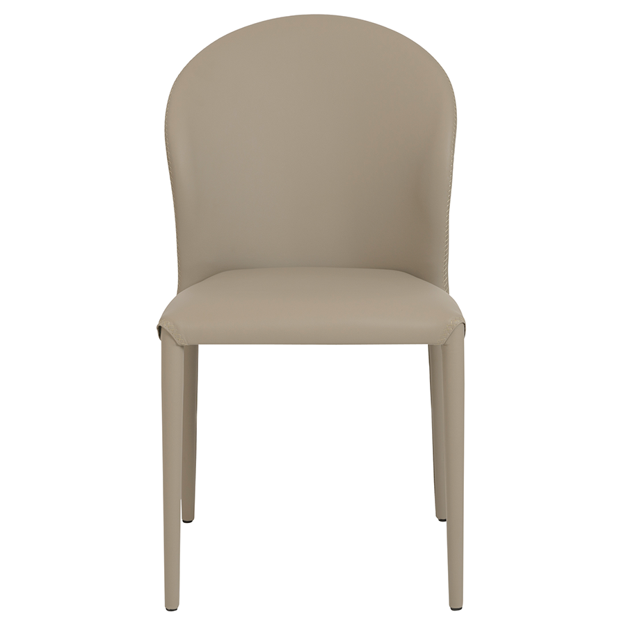 Elain Taupe Contemporary Side Chair