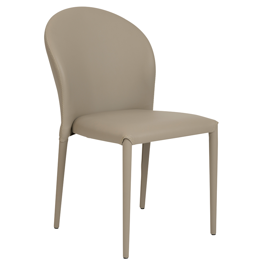 Elain Taupe Modern Side Chair