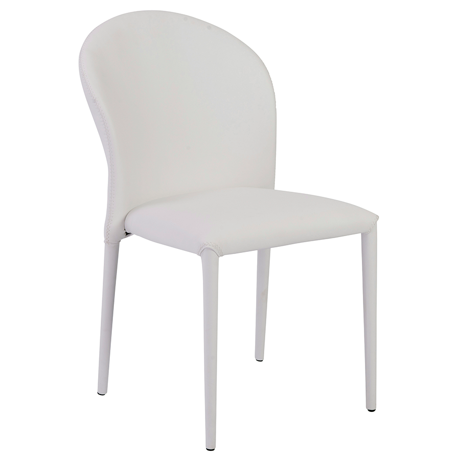 Emmett White Modern Side Chair
