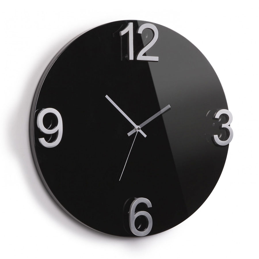 Elapse Modern Black Wall Clock