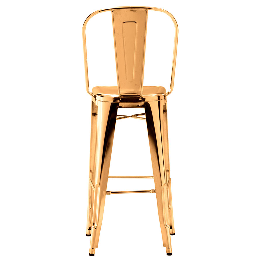 Elea Gold Contemporary Bar Stool Back