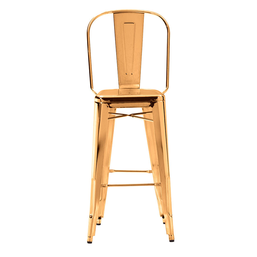 Elea Gold Contemporary Bar Stool Front