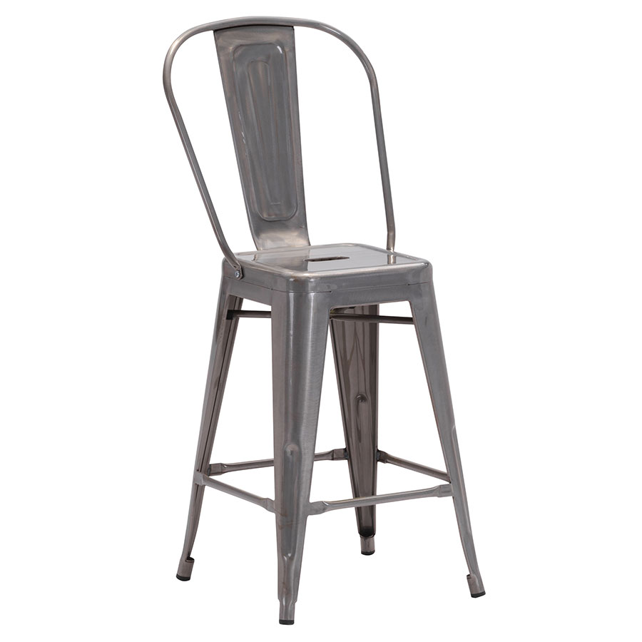 Elea Gun Metal Modern Counter Stool