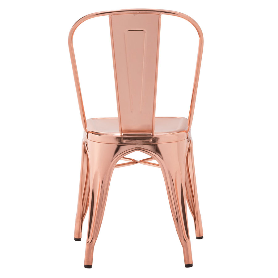Elea Rose Gold Contemporary Industrial Dining Chair
