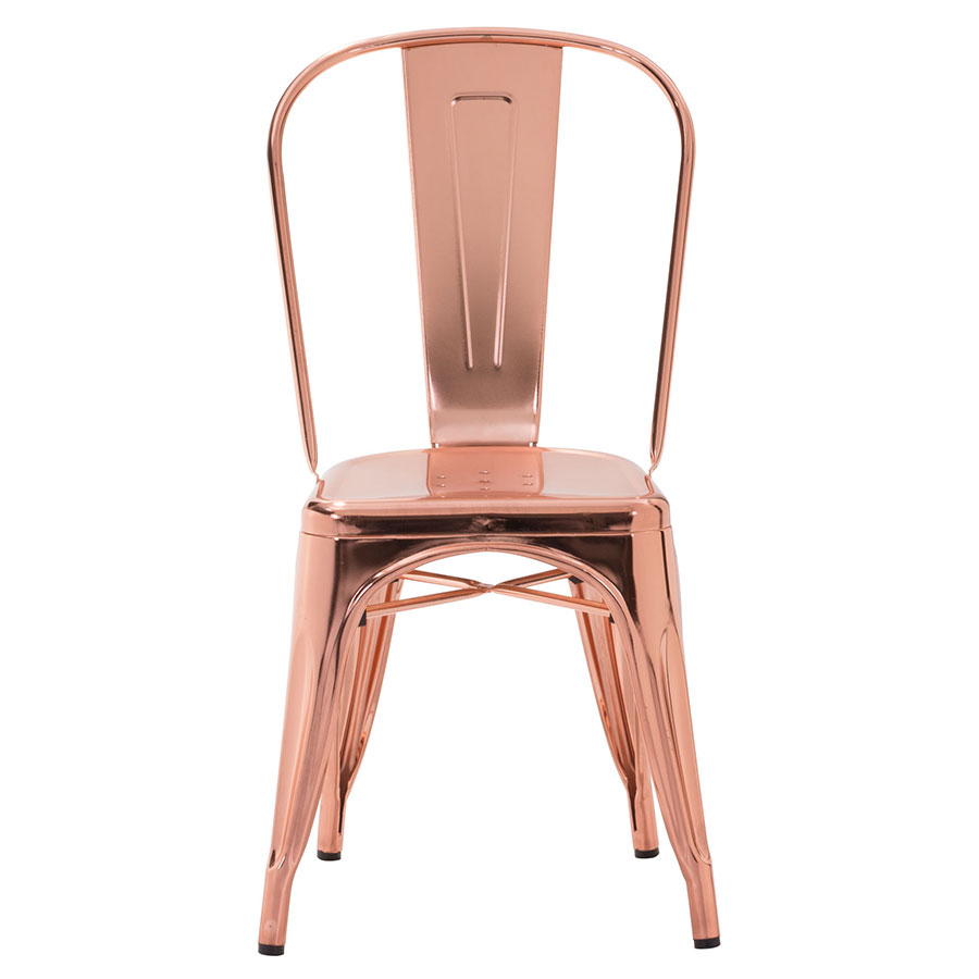 Elea Rose Gold Contemporary Dining Chair