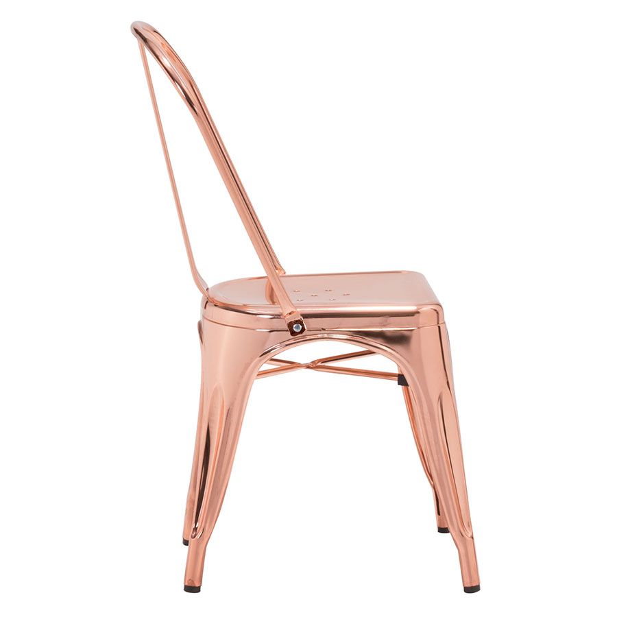 Elea Rose Gold Modern Industrial Dining Chair