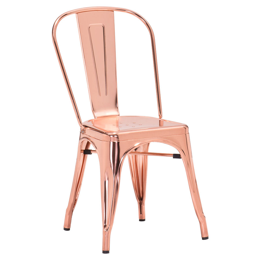Elea Rose Gold Modern Dining Chair