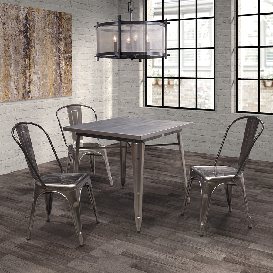 Oly Table and Eli Bistro Dining Chairs