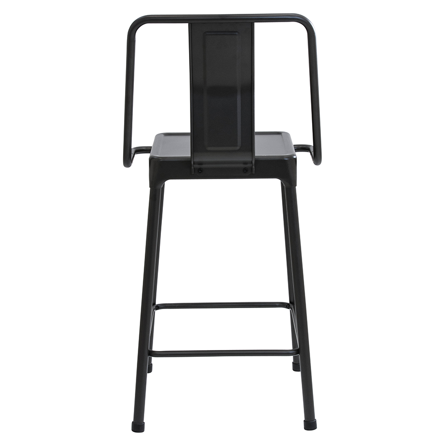 Elian Black Modern Cafe Style Counter Stool