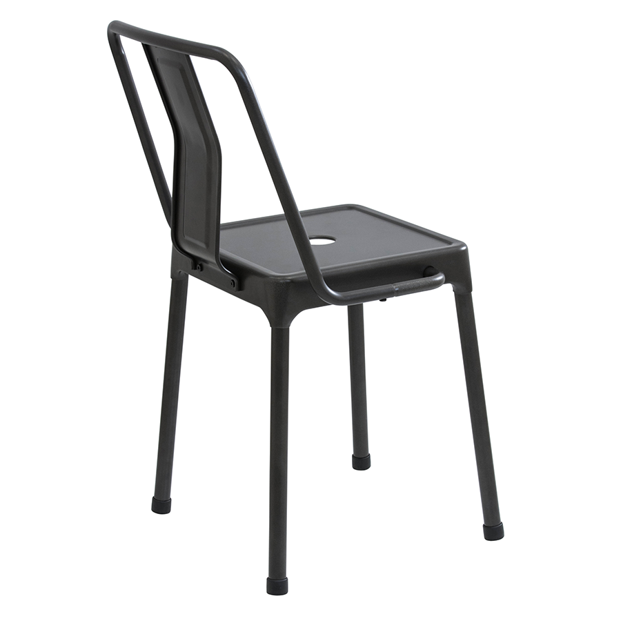 Elian Black Metal Contemporary Side Chair