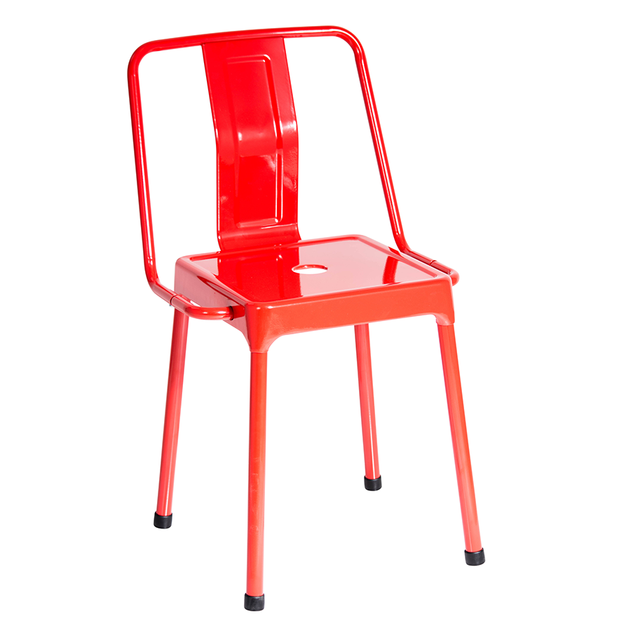 Red modern chairs - Elian Red Modern Side Chair