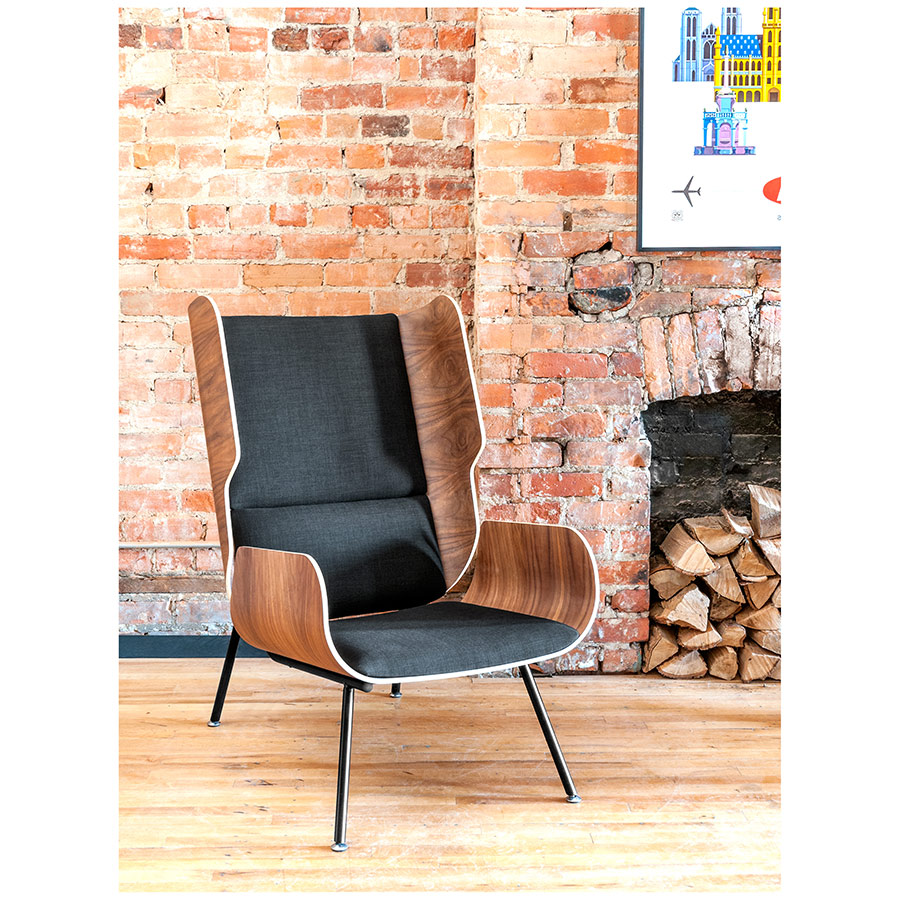 Elk Lounge Chair by Gus Modern in Laurentian Onyx