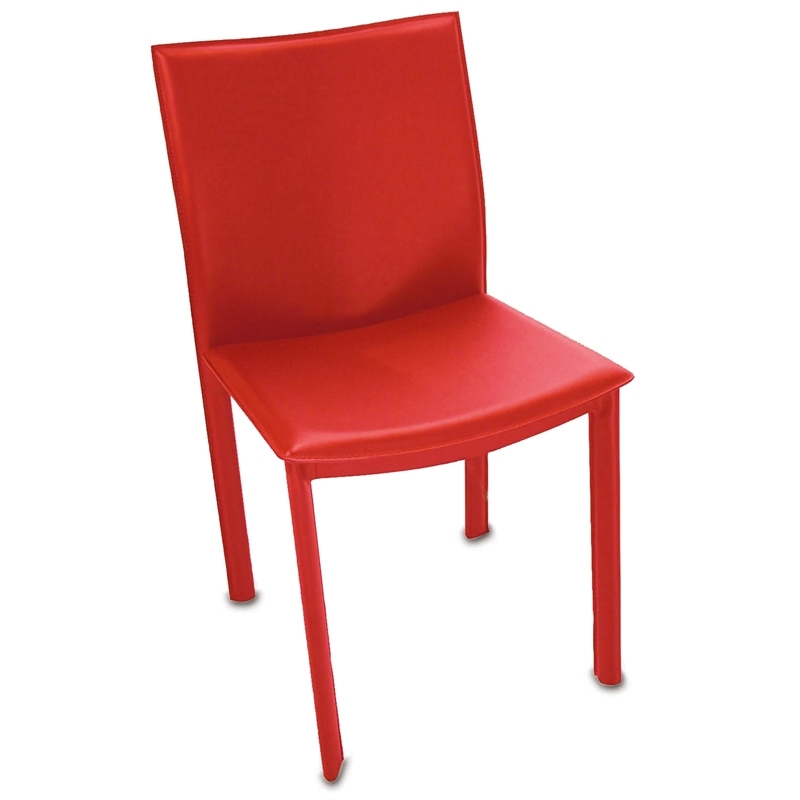 Modern dining chairs ellis red dining chair eurway for Red modern dining chairs