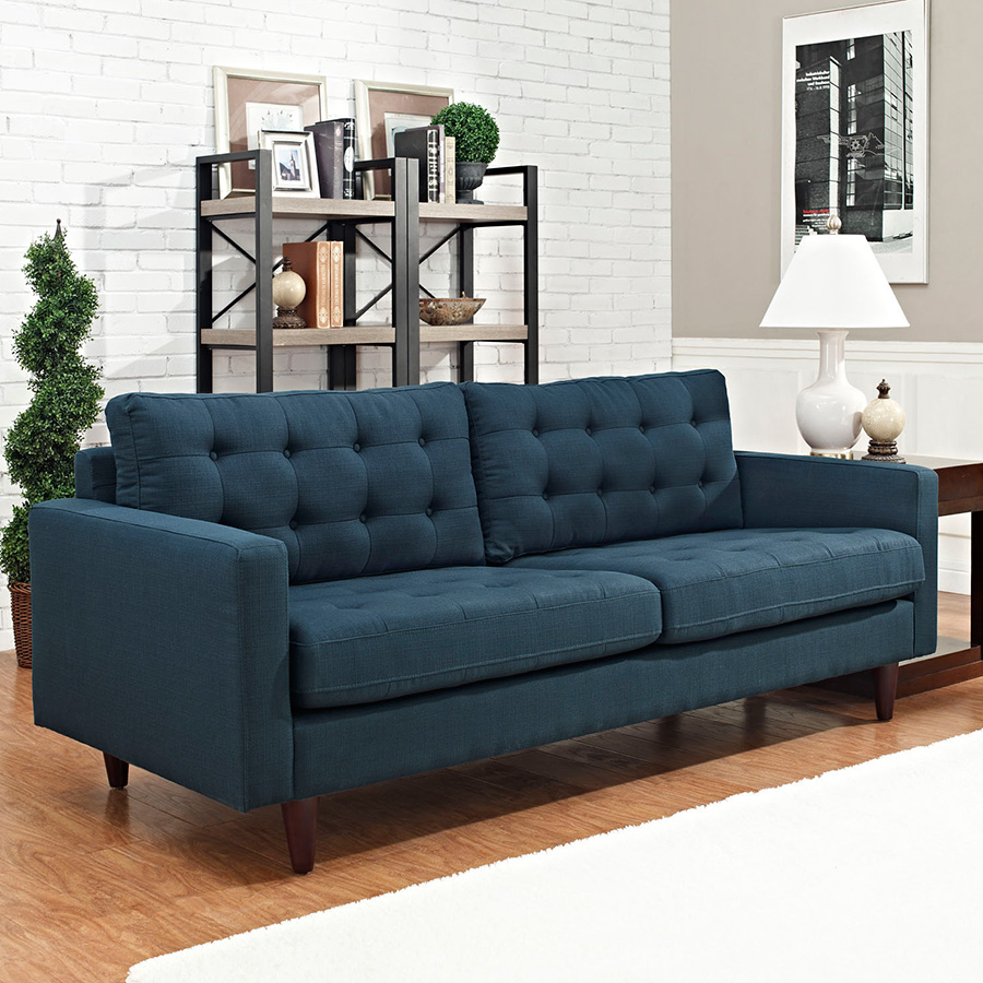 Enfield Contemporary Azure Sofa