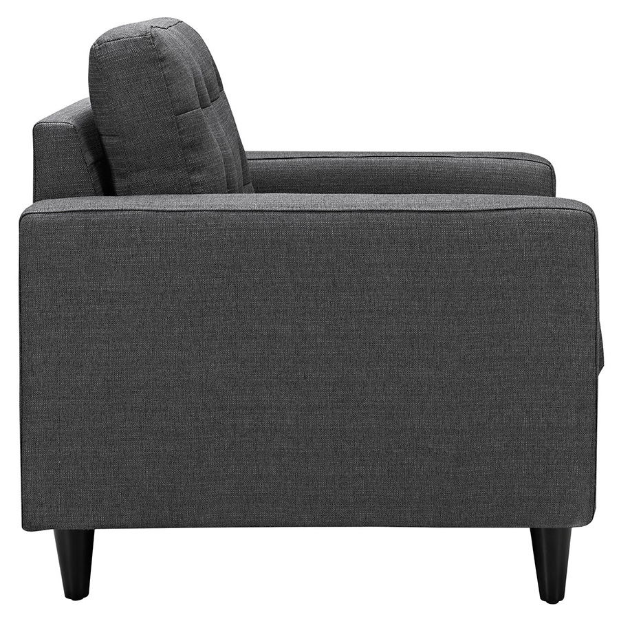 Enfield Gray Modern Lounge Chair - Side View