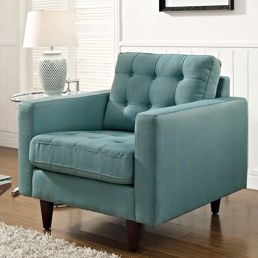 Enfield Light Blue Contemporary Lounge Chair