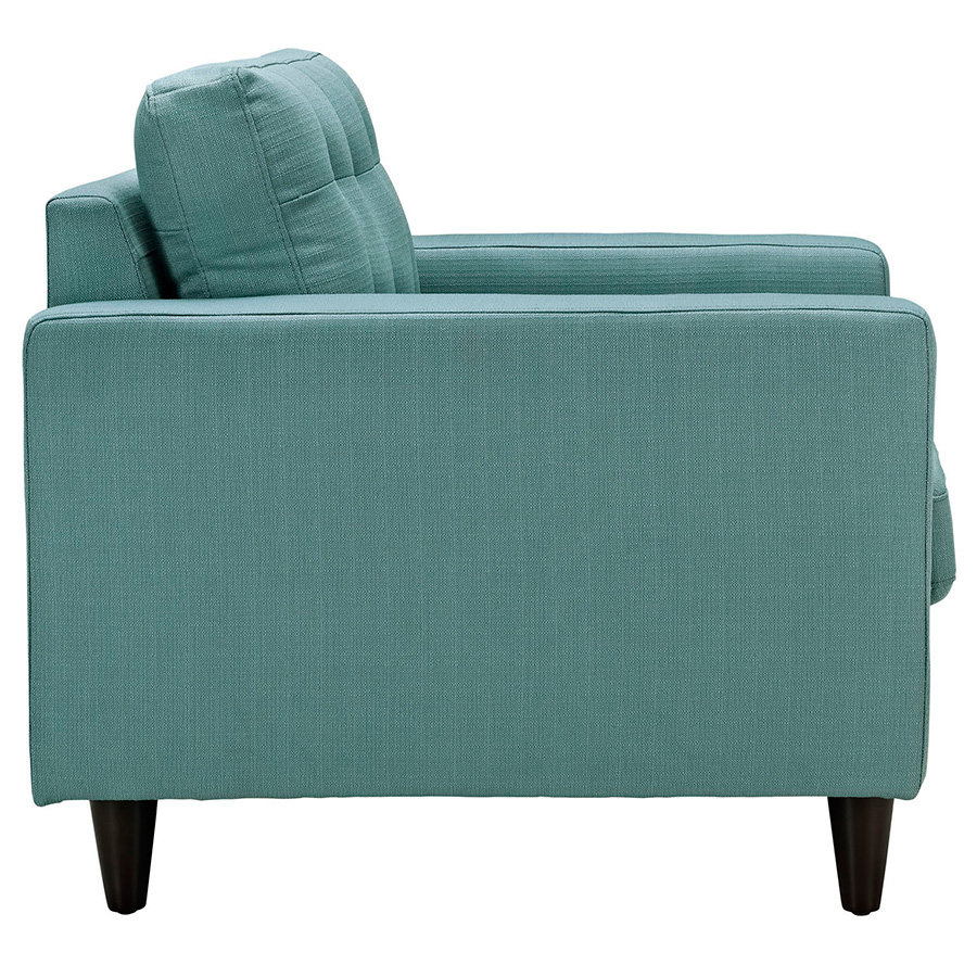 Enfield Light Blue Modern Lounge Chair - Side View