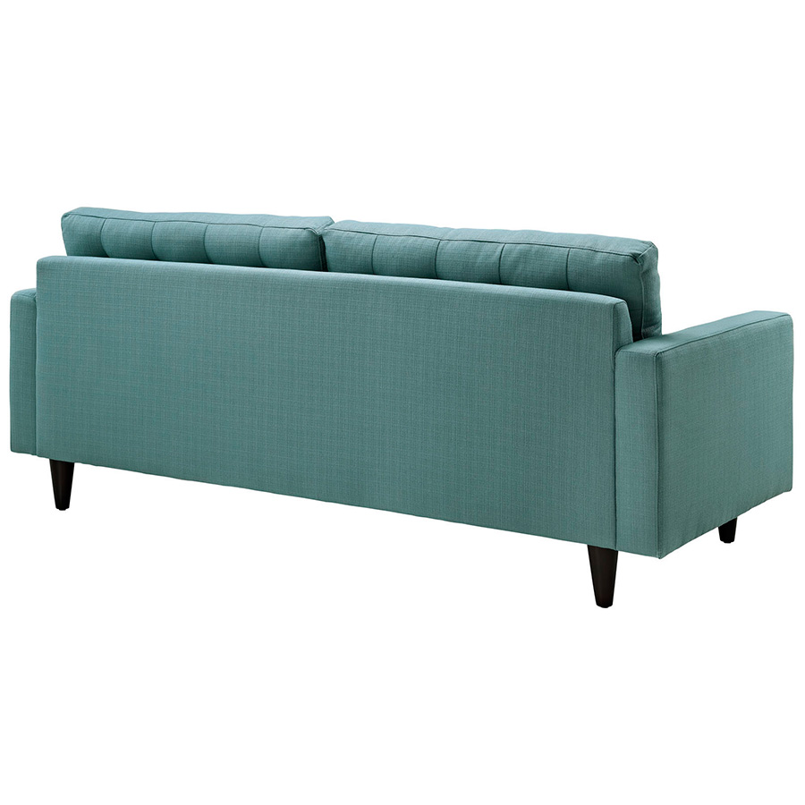 Enfield Modern White Leather Sofa: Enfield Light Blue Sofa