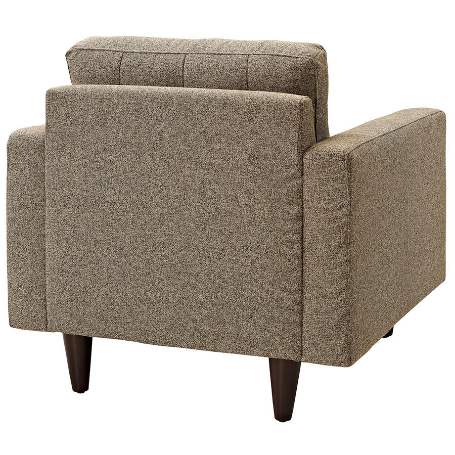 Enfield Oatmeal Modern Lounge Chair - Back View
