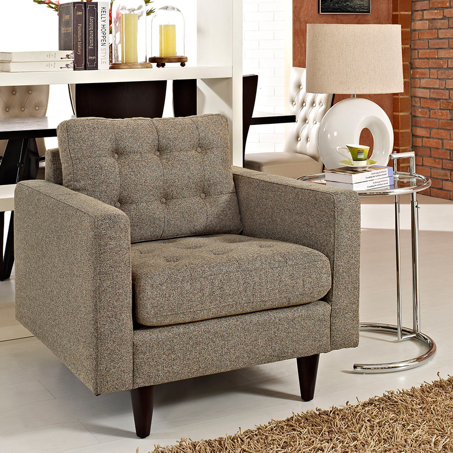 Enfield Oatmeal Contemporary Lounge Chair