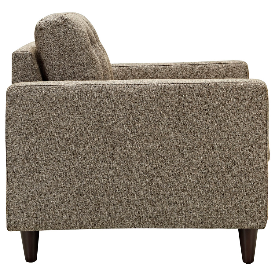 Enfield Oatmeal Modern Lounge Chair - Side View